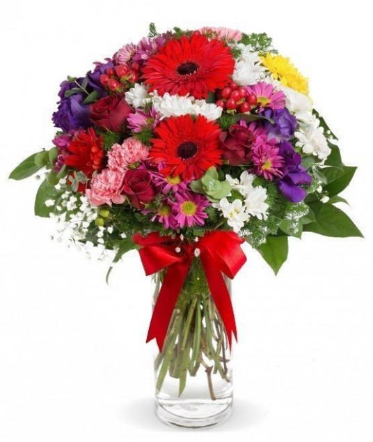 Vazoda Renkli KırÇiçekleri