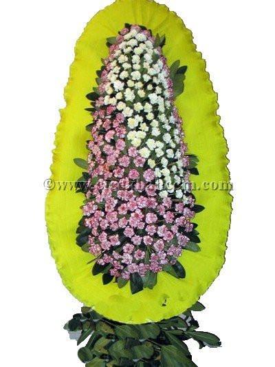 Ayaklı Sepet : Kırçıllı, Beyaz Karanfil Çiçekleri İle Tasarlanmış Düğün, Nikah ve Açılış Sepeti