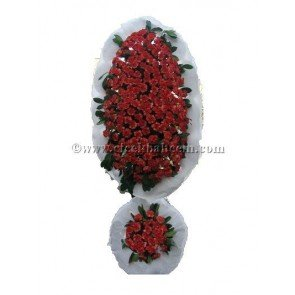 Ayaklı Sepet : Kırmızı Kanfil Çiçekleri İle Tasarlanmış Düğün, Nikah ve Açılış Sepeti