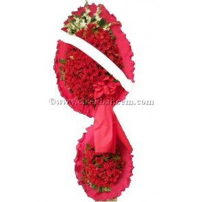 Ayaklı Sepet : Kırmızı Gerbera, Glayör Tasarlanmış Düğün, Nikah ve Açılış Sepeti