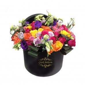 Kutuda Karışık Mevsim Çiçekleri