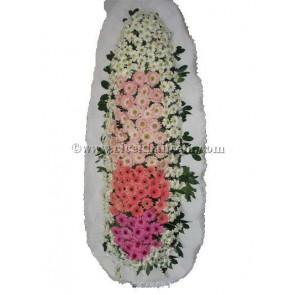 Ayaklı Sepet : Gelin Duvağı Gerbera Çiçekleri Tasarlanmış Düğün, Nikah ve Açılış Sepeti